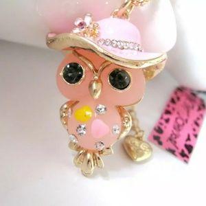 New Betesy Johnson owl necklace
